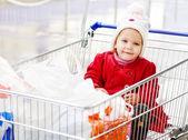 Supermarcet with baby — Stock Photo