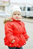 Sad toddler girl — Stock Photo