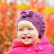 Stock Photo: Baby girl in fall
