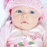 Funny newborn girl — Stock Photo