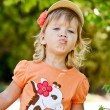 Cute toddler girl — Stock Photo
