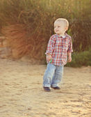 Playful toddler boy — Stock Photo