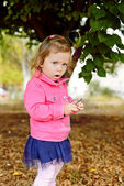 Fashion toddler outdoors — Stock Photo