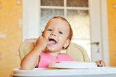 Baby is eating — Stock Photo