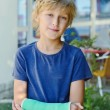 Boy with cast — Stock Photo #33131275