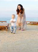 Zábava na pláži — Stock fotografie