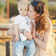 Baby boy with mother — Stock Photo