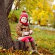 Toddler girl in fall time — Stock Photo #34565013