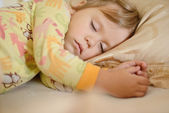 Sleeping toddler girl — Foto Stock