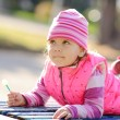 Toddler in the park — Stock Photo