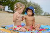 Fun on the beach — Stock Photo