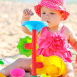 Baby playing on the beach — Stock Photo #39907507
