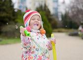 Happy toddler girl — Stock Photo