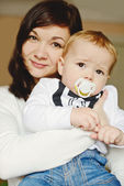 Mother and baby son — Stock Photo