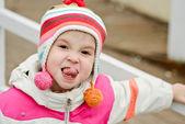 girl showing tongue  — Stock Photo