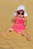 Cute summer baby — Stockfoto