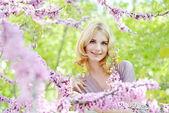 Spring lady — Стоковое фото