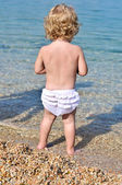 Baby in the sea — Stock Photo