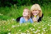 Mother and  toddler girl — Stock Photo