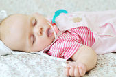 Baby is sleeping — Stock Photo