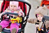 Stroller friends — Stock Photo