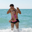 Father and toddler girl — Stock Photo