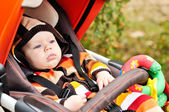 Baby in the stroller — Stock Photo