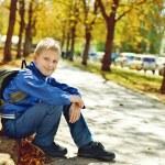 Schoolboy in park — Stock Photo #50101163