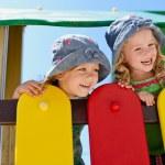 Happy children on the playground — Stock Photo