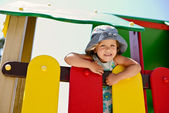 Happy girl on the playground — Stock Photo