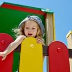 Funny girl in summer — Stock Photo