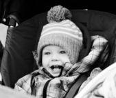 Boy  in  stroller — Stock Photo