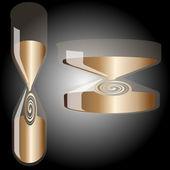 Hourglass on gradient background — 图库矢量图片