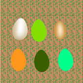 Set of decorative Easter eggs — Vecteur