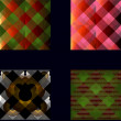 Set of seamless textures patterned  — Stock vektor