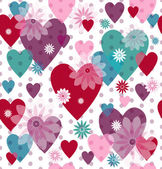 Seamless valentine pattern — Vetorial Stock