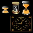 Vector de stock : Set of three sand and some mechanical watches