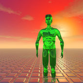 Green alien — Stock Photo