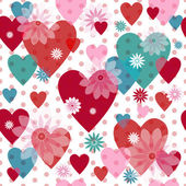 Seamless valentine pattern-new — Stock Vector