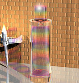 Rainbow colors perfume bottle  — Photo