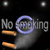 Title to ban smoking  — Stock Photo