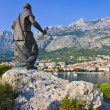Statue of St. Peter in Makarska, Croatia - Stock Photo