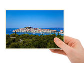 Croatia photography in hand — Stock Photo