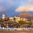 Beach Las Americas in Tenerife island - Canary - Stock Photo
