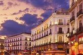 Madrid španělsko při západu slunce — Stock fotografie