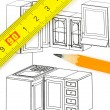 Kitchen plan — Stock Photo #13204134
