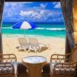 Hotel room and beach landscape - 