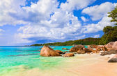 Beach Anse Lazio at island Praslin, Seychelles — Stock Photo