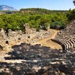 Old amphitheater Phaselis in Antalya, Turkey — Stock Photo