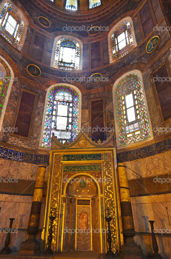 Hagia Sophia interior at Istanbul Turkey - architecture background — Stock Photo #13244259